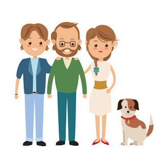 Love Dog simple family seek for help with least supervision