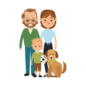 Western family with 1 kid and 1 small dog looking for helper