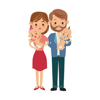 Young couple with babies looking for domestic helper
